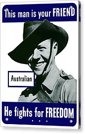 Australian This Man Is Your Friend  Acrylic Print