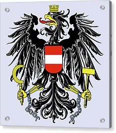 Acrylic Print featuring the drawing Austria Coat Of Arms by Movie Poster Prints