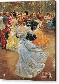 Austria, Vienna, Emperor Franz Joseph I Of Austria At The Annual Viennese Ball  Acrylic Print