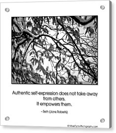 Authentic Self Expression Acrylic Print