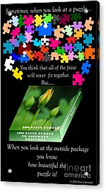 Autism, The Outside Package Acrylic Print by Donna Cavanaugh