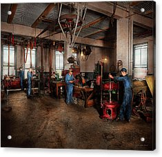 Acrylic Print featuring the photograph Autobody - The Bodyshop 1916 by Mike Savad