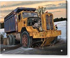 Autocar Dumptruck Acrylic Print by Stuart Swartz
