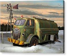 Autocar Waterwagon Acrylic Print by Stuart Swartz