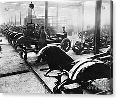 Automobile Manufacturing Acrylic Print by Granger