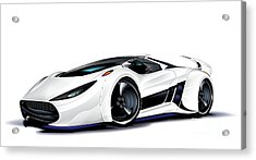 Acrylic Print featuring the drawing Automobili Lamborghini Concept by Brian Gibbs
