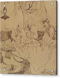 Autopsy At The Hotel-dieu Acrylic Print by Henri Gervex
