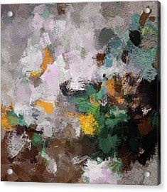 Acrylic Print featuring the painting Autumn Abstract Painting by Ayse Deniz
