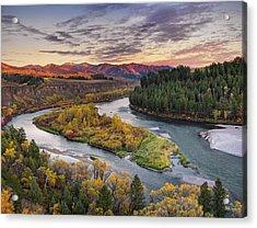 Autumn Along The Snake River Acrylic Print