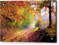 Autumn And The Morning Mist Acrylic Print by Georgiana Romanovna