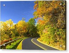 Autumn Appalachian Drive Acrylic Print by Darrell Young