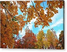 Autumn Around Old Main - University Of Arkansas - Fayetteville Acrylic Print