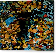 Autumn Acrylic Print by Art Nomad Sandra  Hansen