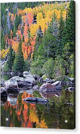 Autumn At Bear Lake Acrylic Print by David Chandler