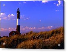 Autumn At Fire Island Lighthouse Acrylic Print by Rick Berk