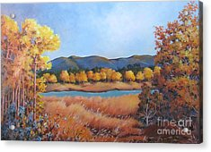 Acrylic Print featuring the painting Autumn At Fraser Valley 2 by Marta Styk