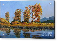 Autumn At Fraser Valley Acrylic Print by Marta Styk