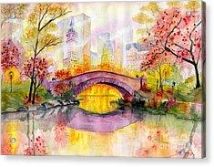 Autumn At Gapstow Bridge Central Park Acrylic Print