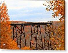 Autumn At Kinzua Bridge Acrylic Print
