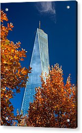 Autumn At One Wtc Acrylic Print by Rick Berk