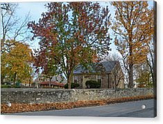 Autumn At Plymouth Meeting Friends Acrylic Print by Bill Cannon