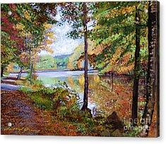 Autumn At Rockefeller Park  Acrylic Print by David Lloyd Glover