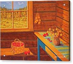 Autumn At The Cottage Acrylic Print by Veikko Suikkanen