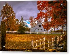 Autumn At The Farm Acrylic Print