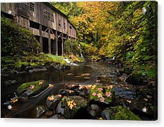 Acrylic Print featuring the photograph Autumn At The Grist Mill by Brian Bonham