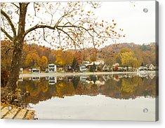 Autumn At The Housatonic Acrylic Print by Karol Livote
