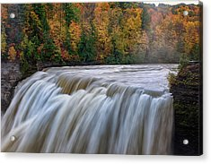 Autumn At The Middle Falls  Acrylic Print