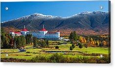 Autumn At The Mount Washington Crop Acrylic Print