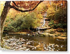 Autumn At Tom Branch Falls  Acrylic Print