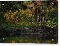 Autumn At Wrights Pond Acrylic Print