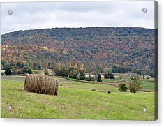 Autumn Bales Acrylic Print by Jan Amiss Photography