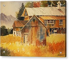 Autumn Barn And Sheds Acrylic Print