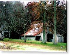 Autumn Barn In Alabama Acrylic Print