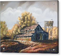 Acrylic Print featuring the painting Autumn Barnyard by Sherril Porter