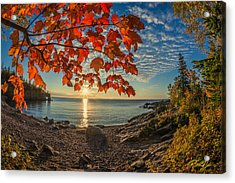 Autumn Bay Near Shovel Point Acrylic Print