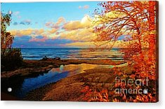Autumn Beauty Lake Ontario Ny Acrylic Print