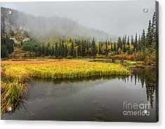 Autumn Begins At Silver Lake Acrylic Print