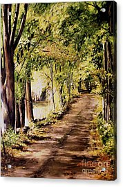 Autumn Begins In Underhill Acrylic Print