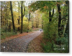 Acrylic Print featuring the photograph Autumn Bicycling by Felipe Adan Lerma