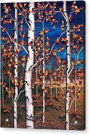 Autumn Birch Forest Acrylic Print