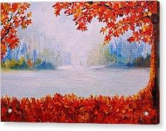 Autumn Blaze Maple Trees Acrylic Print
