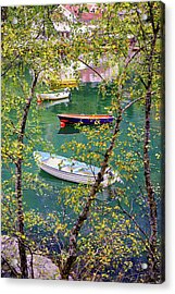 Acrylic Print featuring the photograph Autumn. Boats by Dmytro Korol