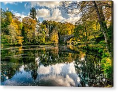 Autumn Bridge Acrylic Print by Adrian Evans