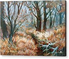 Autumn Brush Acrylic Print by JoAnne Corpany