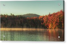 Autumn By The Mountain Lake Acrylic Print by Chris Fletcher
