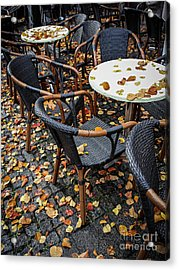 Acrylic Print featuring the photograph Autumn Cafe by Elena Elisseeva